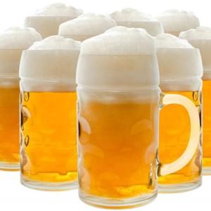 пиво разливное светлое в кружках