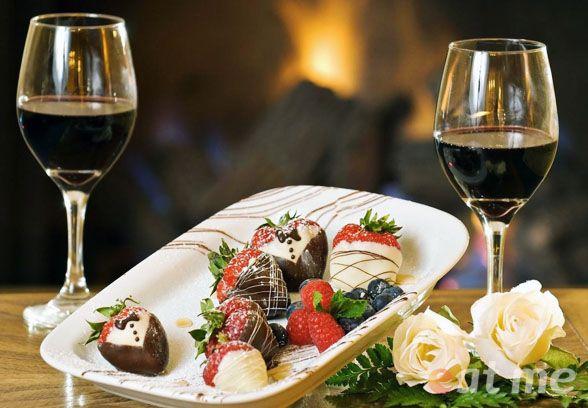 Десертное вино и конфеты