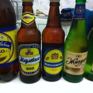 Жигулевское пиво в бутылках