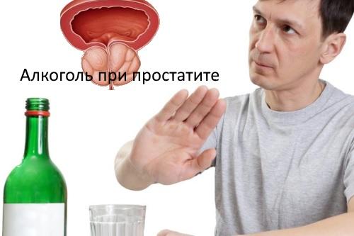 Спиртное при простатите