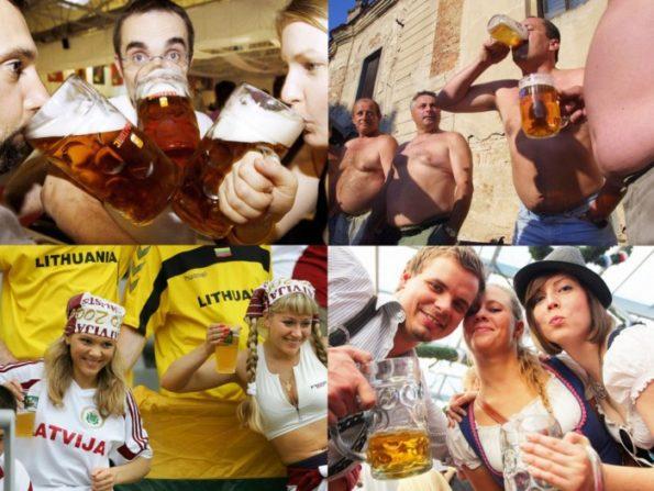 Рейтинг самых пьющих стран в мире