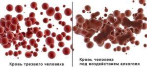 Как алкоголь действует на кровь